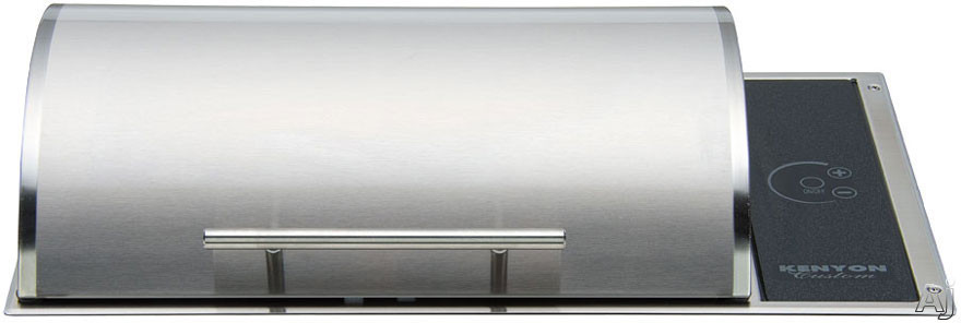 """click for Full Info on this Kenyon Floridian Series B70081 21"""" Built in Electric Grill with Concealed Elements  Touch Controls and Disposable Grease Tray: Stainless Steel: 240 Volts"""