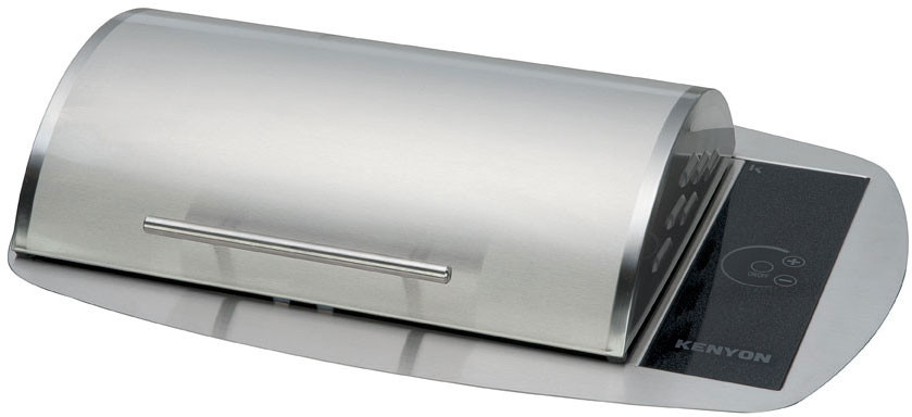 Kenyon Rio Series B70086 23 1/8 Inch Built-in Electric Grill with Concealed Elements, Touch Controls and Disposable Grease Tray: Stainless Steel: 240 Volts