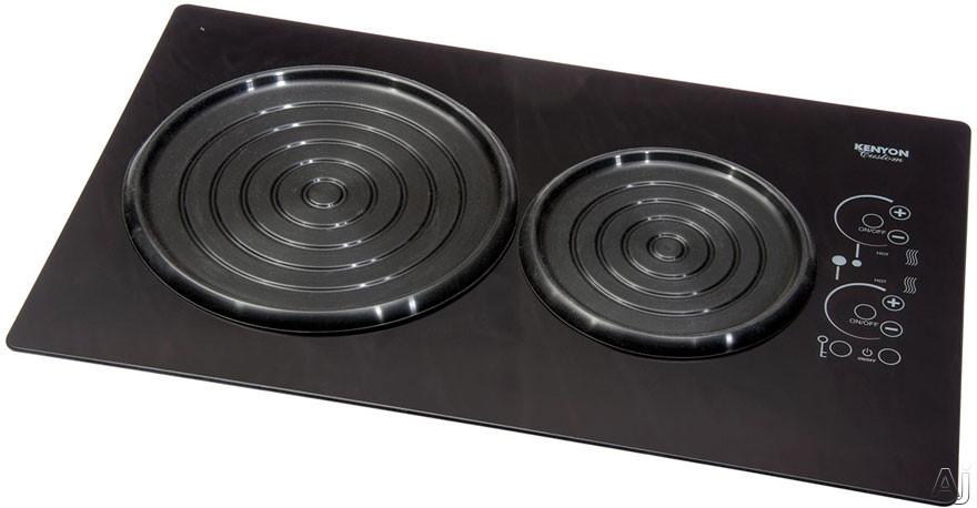 Kenyon SilKEN Series B80105 15 Inch Induction Cooktop with 2 Cooking Zones, Spill/Pot Retention, Auto Shut-Off, ON/HOT Indicator Light and Landscape Mounting: Black Glass