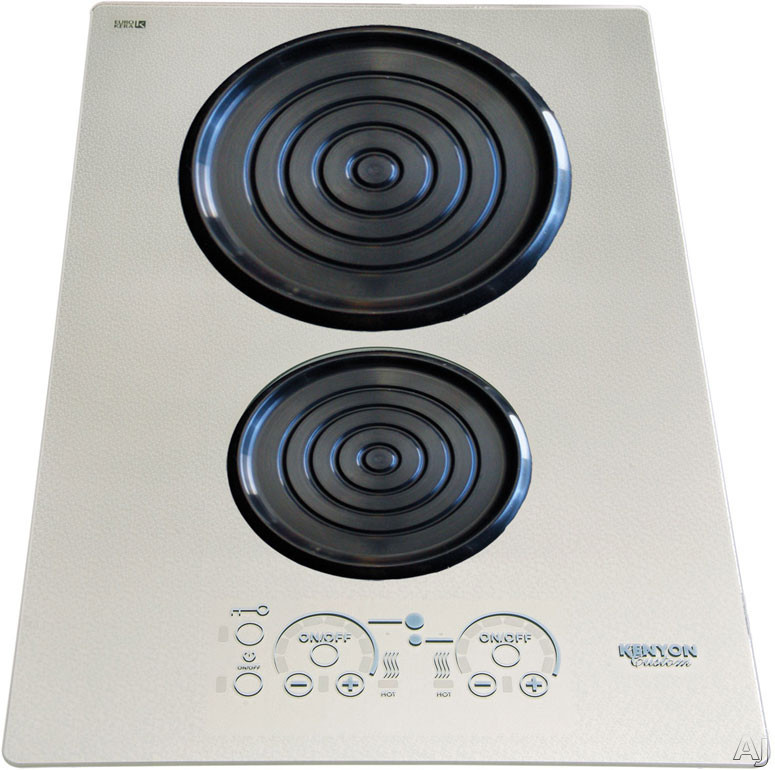 Kenyon SilKEN Series B80201 15 Inch Induction Cooktop with 2 Cooking Zones, Spill/Pot Retention, Auto Shut-Off, ON/HOT Indicator Light and Portrait Mounting: Platinum Glass