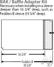 Friedrich BAK Baffle Adapter Kit, U.S. & Canada BAK