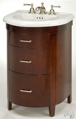 Empire Industries Bella Collection Be23sc 22 Inch Contemporary Vanity With One Cabinet Door, Bottom Drawer, Soft-closing Hinges, Spice Cherry Finish And Sink Not Included