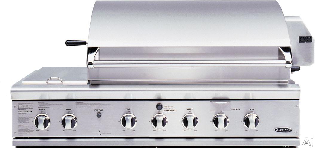 """DCS BGB48BQRN 48"""" Built-in Gas Grill with 3-25,000 BTU Burners, 2-17,000 BTU Integrated Side Burners, U.S. & Canada BGB48BQRN"""
