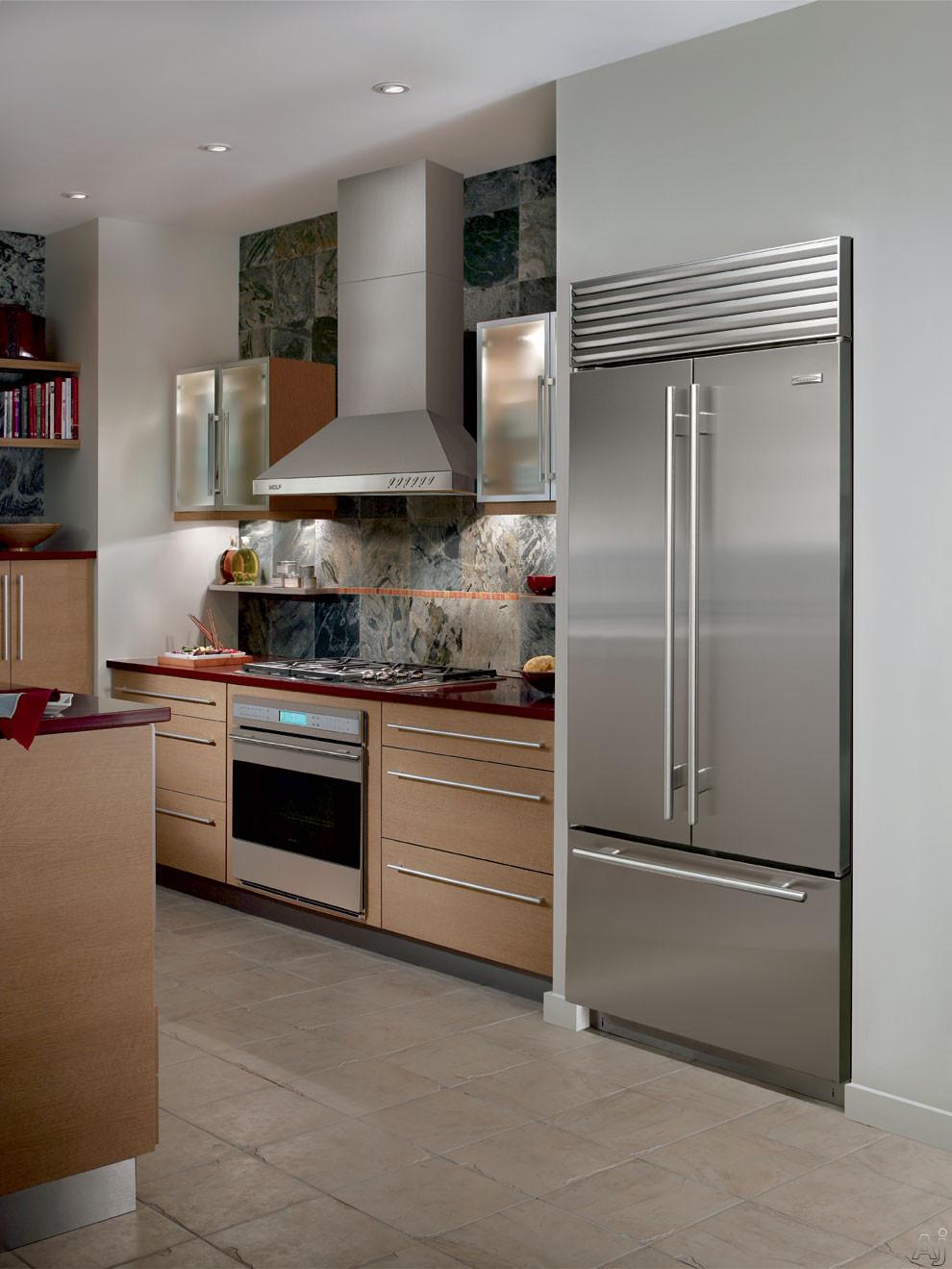 Sub Zero Bi36ufdsth 36 Built In French Door Refrigerator
