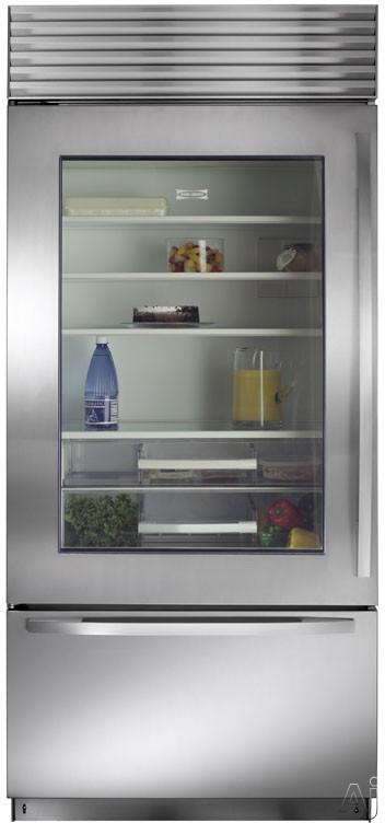 Sub zero bi36ug 36 built in bottom freezer refrigerator - Glass door refrigerator for home ...
