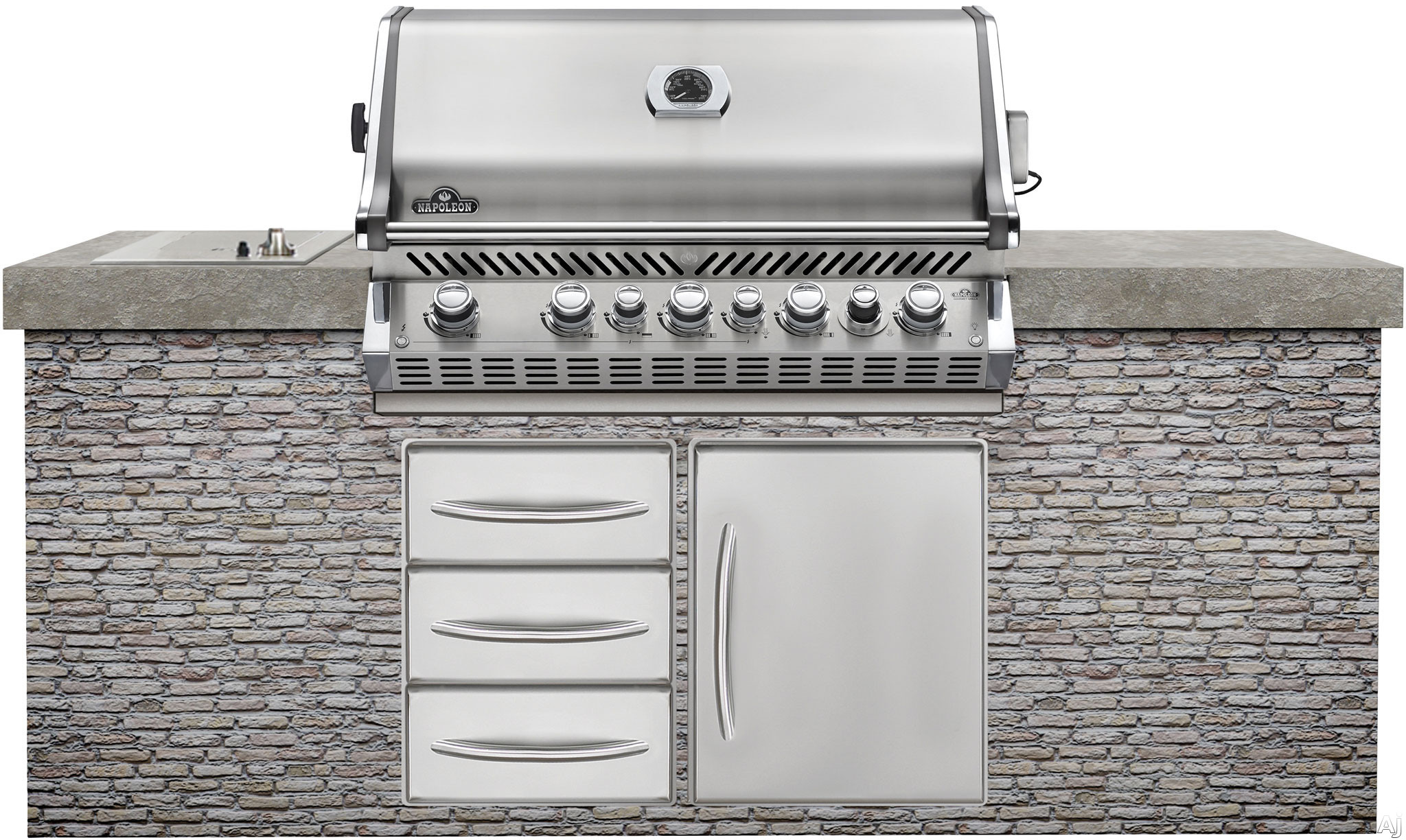 napoleon bipro665rbpss 38 built in gas grill with 1 000. Black Bedroom Furniture Sets. Home Design Ideas