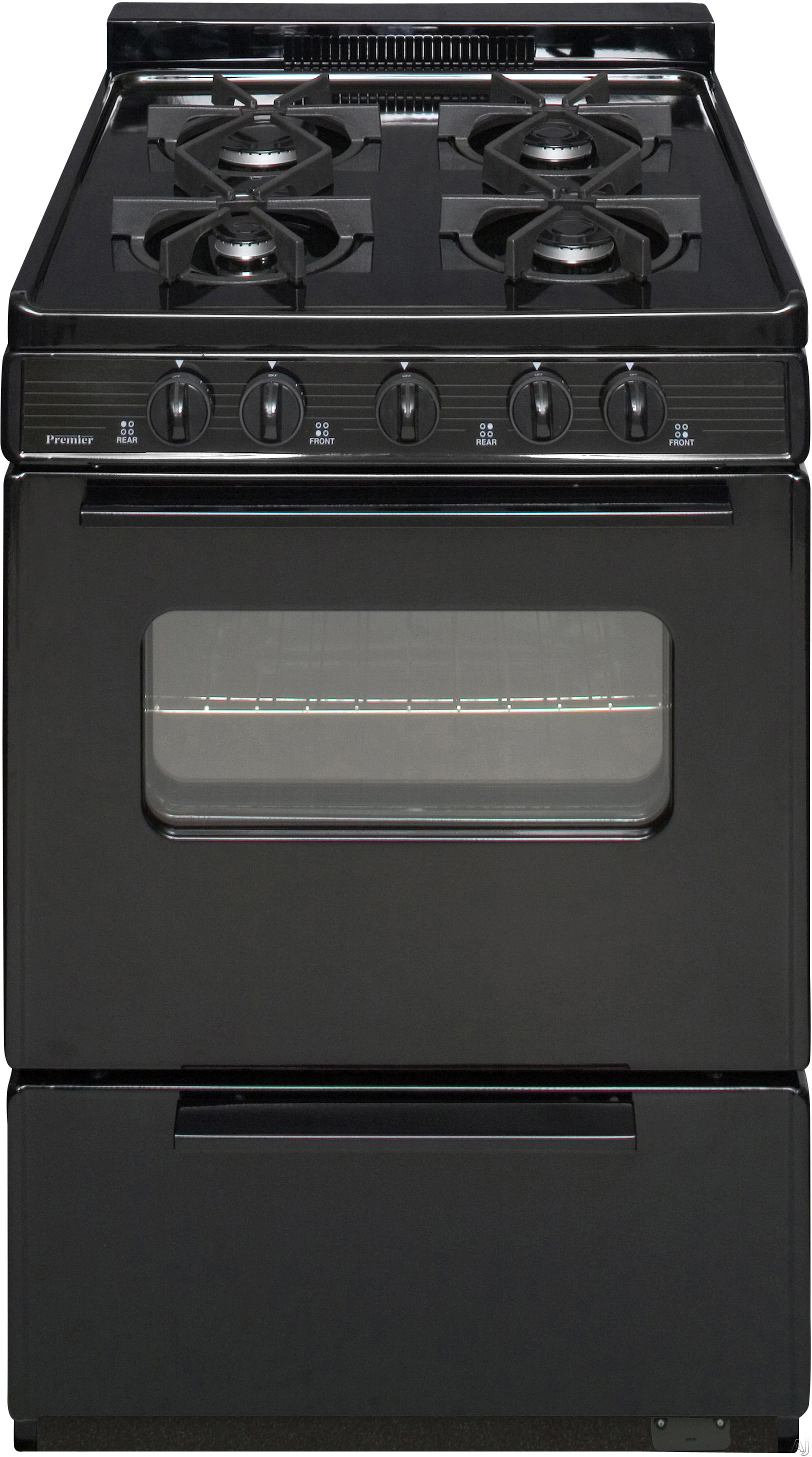 Premier bjk5x0bp 24 freestanding cordless gas range with for 17000 btu window air conditioner
