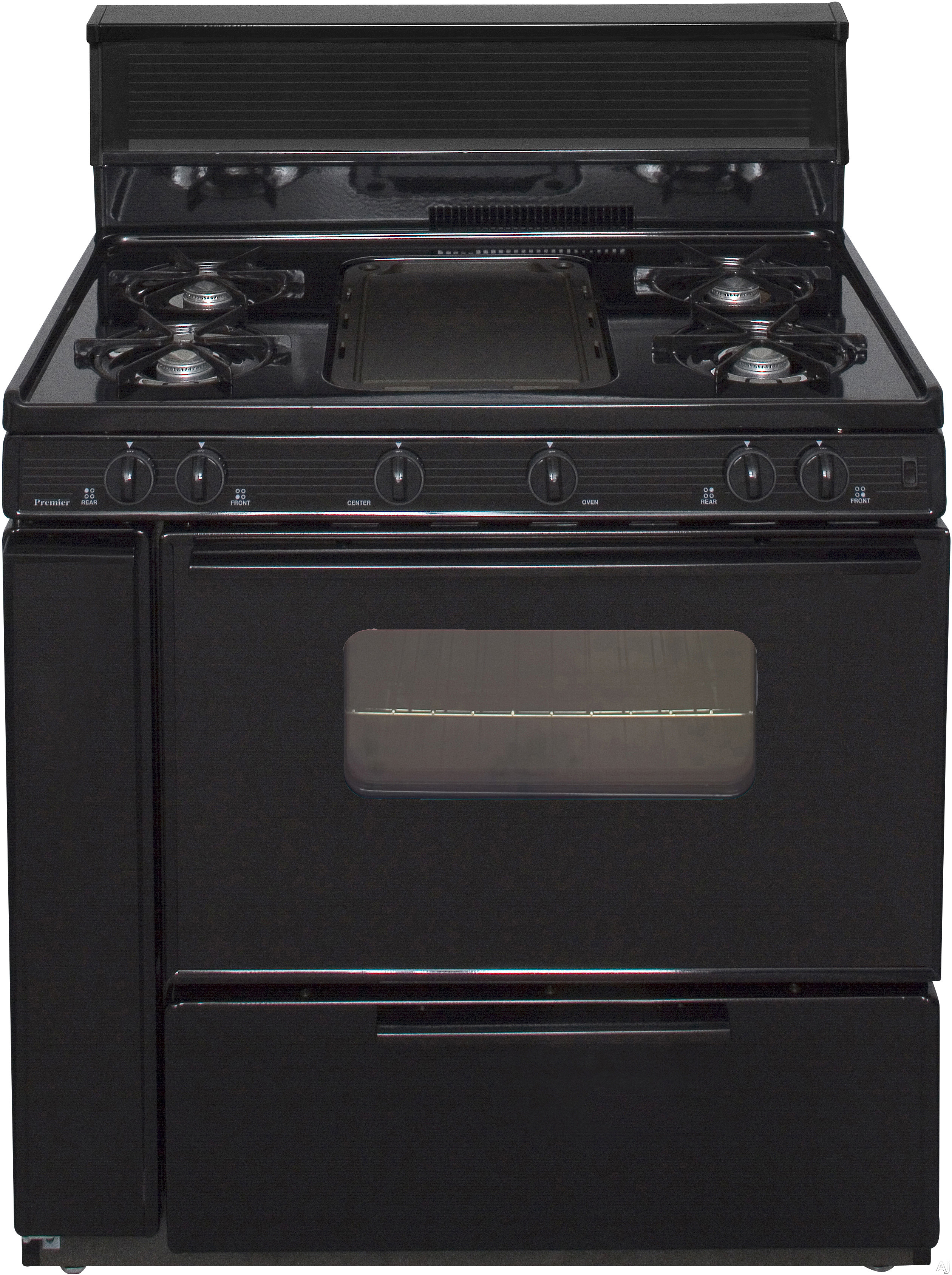 Premier blk5s9xp 36 freestanding gas range with 5 burners for 17000 btu window air conditioner