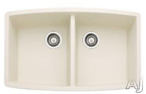 """Blanco Performa 440070 33"""" Undermount Double Bowl Granite Sink with 10"""" Bowl Depths, 80% Solid, U.S. & Canada 440070"""