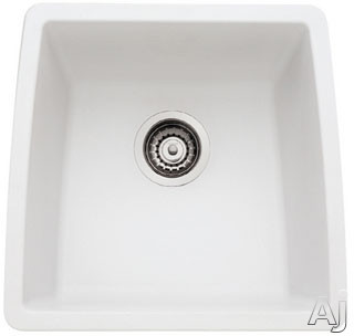 "Blanco Performa 440081 17"" Undermount Single Bowl Granite Sink with 9"" Bowl Depth, 80% Solid, U.S. & Canada 440081"