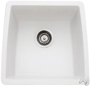 "Blanco Performa 440081 17"" Undermount Single Bowl Granite Sink with 9"" Bowl Depth, 80% Solid, U.S. & Canada 440081"