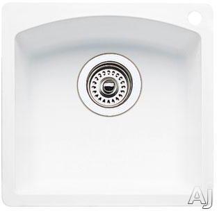 "Blanco Diamond 440205x 15"" Drop-in / Undermount Single Bowl Granite Bar Sink with 8"" Bowl Depth, 80%, U.S. & Canada 440205x"