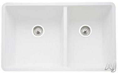 "Blanco Precis 441125x 33"" Undermount Double Bowl Granite Sink with 9-1 / 2"" Bowl Depths, 80% Solid, U.S. & Canada 441125x"