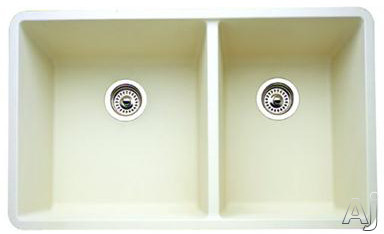 "Blanco Precis 441127 33"" Undermount Double Bowl Granite Sink with 9-1 / 2"" Bowl Depths, 80% Solid, U.S. & Canada 441127"