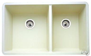 "Blanco Precis 441127 33"" Undermount Double Bowl Granite Sink with 9-1 / 2"" Bowl Depths, 80% Solid, U.S. & Canada 441127"