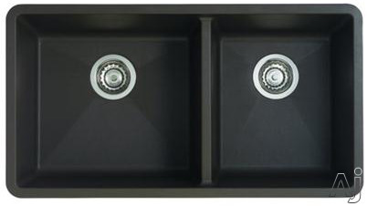 "Blanco Precis 441129 33"" Undermount Double Bowl Granite Sink with 9-1 / 2"" Bowl Depths, 80% Solid, U.S. & Canada 441129"