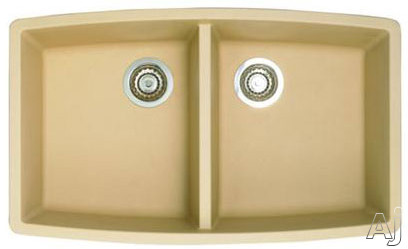 """Blanco Performa 441226 33"""" Undermount Double Bowl Granite Sink with 10"""" Bowl Depths, 80% Solid, U.S. & Canada 441226"""
