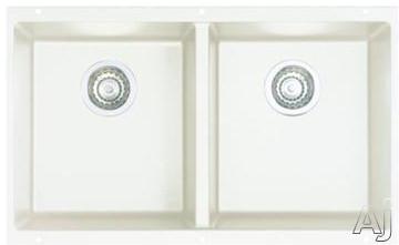 "Blanco Precis 516320 30"" Undermount Double Bowl Granite Sink with 8"" Bowl Depths, 80% Solid Granite, U.S. & Canada 516320"