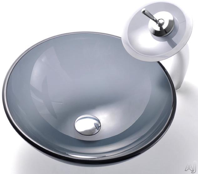 "Kraus Frosted Black Series CGV104FR12MM10ORB 16-1 / 2"" Glass Vessel Sink Combination with 5-1 / 2"", U.S. & Canada CGV104FR12MM10ORB"