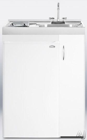 "Summit C301AUTOGLASS 30"" Combination Kitchen with 3.6 cu. ft. Energy Star Refrigerator-Freezer, 2, U.S. & Canada C301AUTOGLASS"