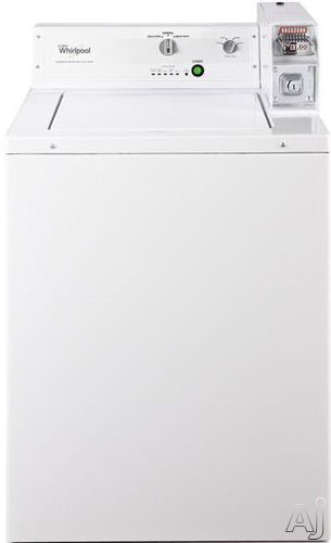 "click for Full Info on this Whirlpool CAE2743BQ 27"" Top Load Washer with 2.9 cu ft Capacity  Coin Operated Design  3 Wash Cycles  Automatic Load Sensing  Clothes Guard and Secure Lid System with Safe Release"
