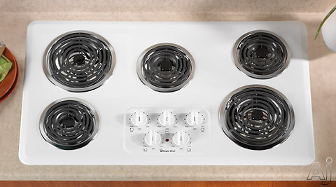 Magic Chef Cec1536aaw 36 Quot Electric Cooktop With 5 Coil