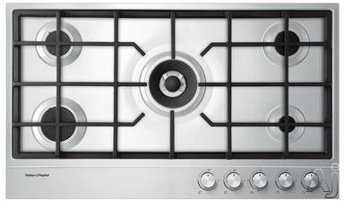 """click for Full Info on this Fisher   Paykel CG365DLPX1 36"""" Gas Cooktop with 5 Sealed Burners  Dual Wok Burner  1/2 Gallon Spill Containment  2 Piece Cast Iron Trivet  Electronic Ignition and Wok Stand: Liquid Propane"""