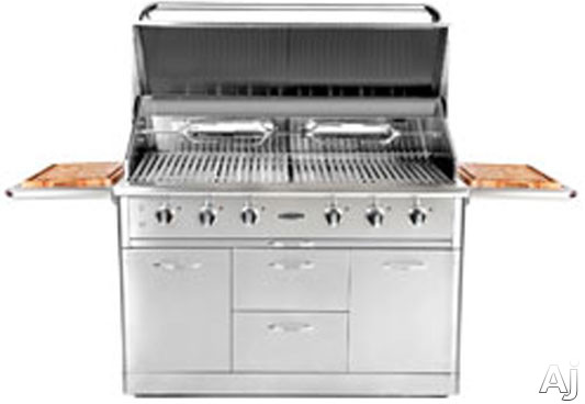 Capital Outdoor Precision Series CG52RFS 52 Inch Built in Gas Grill with 896 Sq In Cooking Area 126 000 Total BTUs 3 Stainless Steel Burners Stainless Steel Grates Infrared Rotisserie Zone Cooking Feature and 4 Drawers