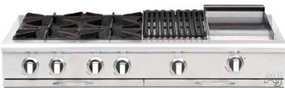 "Capital Culinarian Series CGRT488L 48"" Pro-Style Gas Rangetop with 8 Open Burners, True Simmer, Cast, U.S. & Canada CGRT488L"