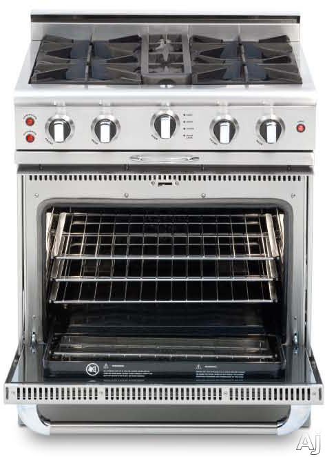 "Culinarian Series CGSR304-N 30"""" Freestanding Natural Gas Range with 4.1 cu. ft. Oven  4 Open Burners  Stay-Cool  Moto-Rotis Rotisserie  and EZ-Glides  in"" 175973"