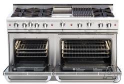 "Capital Culinarian Series CGSR604BB2N 60"" Pro-Style Gas Range with 6 Open Burners, True Simmer, Two, U.S. & Canada CGSR604BB2N"