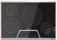 Thermador Masterpiece Series CIT304KB 30 Inch Induction Cooktop with 4 Elements, PowerBoost, 17 Power Settings, Keep Warm Function, Auto Shut-Off Timer and Anti-Overflow System: Black with Stainless S