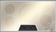 "Thermador Masterpiece Series CIT365KM 36"" Induction Cooktop with 5 Elements, 4,600W Triple Element, PowerBoost, 17 Power Settings, Auto Shut-Off Timer and Anti-Overflow System: Silver Mirrored Finish"