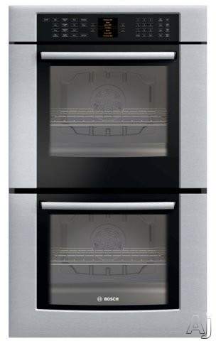"Bosch 800 Series HBL8650UC 30"" Double Electric Wall Oven With Genuine European Convection In Both Ovens 15 Cooking Modes Glass Touch Controls Meat Probe And"