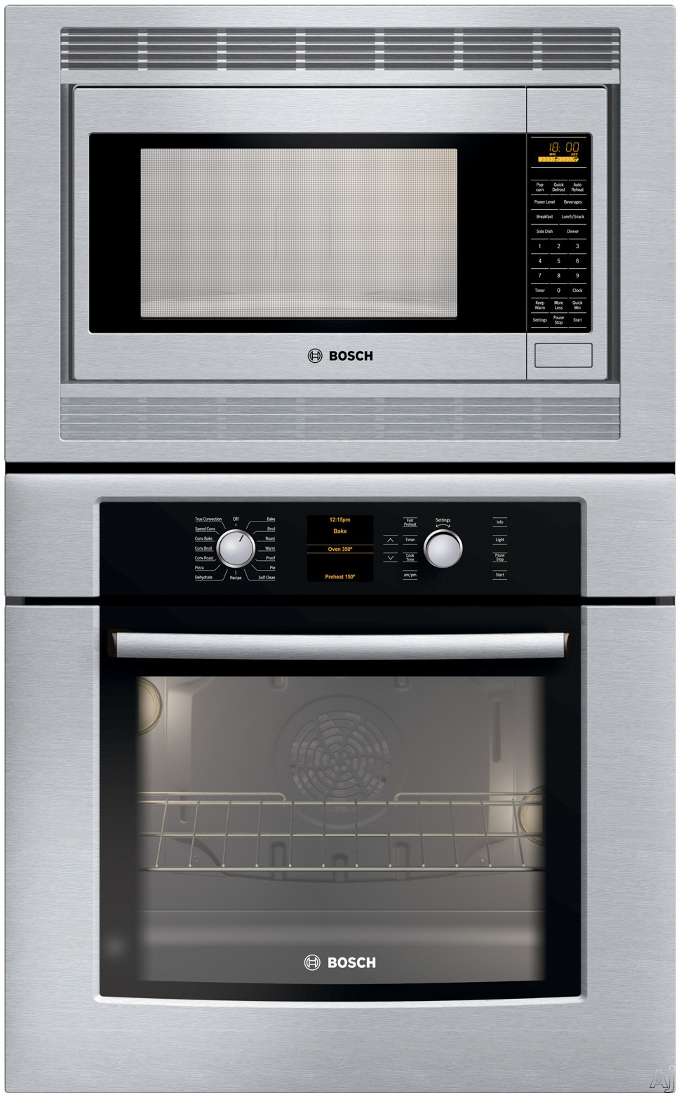 Bosch hbl5750uc 30 microwave combination wall oven with 1 200 microwave cooking watts genuine - Small space microwave photos ...