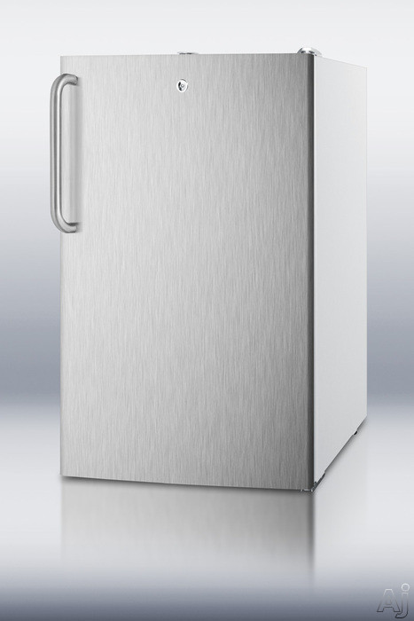 Summit CM411LSSTBADA 4.1 cu. ft. Compact Refrigerator with 2 Adjustable Wire Shelves, Manual, U.S. & Canada CM411LSSTBADA