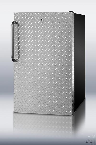 "Summit CM421BLDPL 4.1 cu. ft. Compact Refrigerator with 20"" Width, 2 Adjustable Glass Shelves, U.S. & Canada CM421BLDPL"