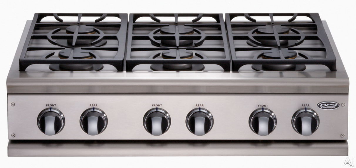 "DCS CP364GDSS 36"" Pro-Style Gas Rangetop with 4 Sealed Dual Flow Burners and 18,000 BTU Griddle (6-Burner Model Shown CP366SS)"