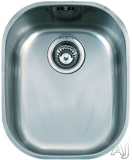 Franke Compact Series CPX11013 14 Inch Undermount Single Bowl Stainless Steel Sink with 18-Gauge and Polished Finish