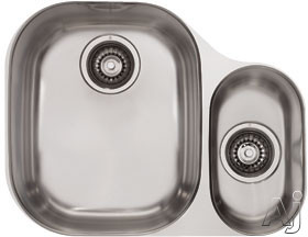 Franke Compact Series CPX160 23 Inch Undermount Double Bowl Stainless Steel Sink with 18-Gauge and Polished Finish