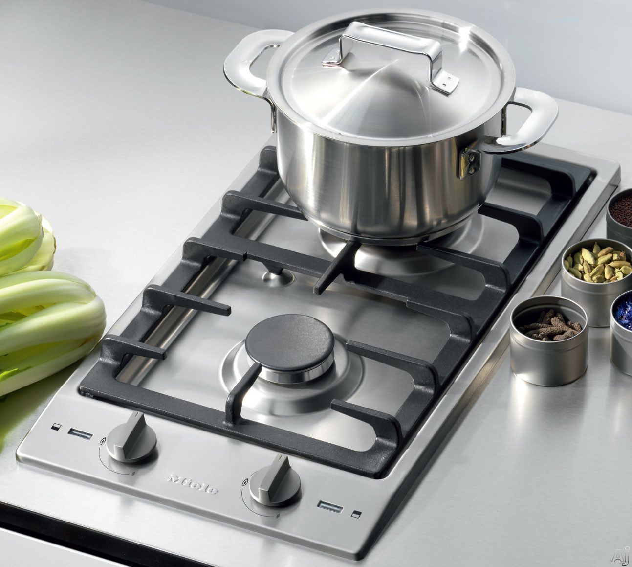 "Miele CS 12"" Gas Cooktop with 2 Sealed Burners"