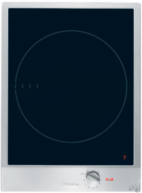 Miele CombiSet CS1221ISS 15 Inch Induction Cooktop with 1 Zone, 12 Power Settings, Keep Warm Function and Stainless Steel Control Knob