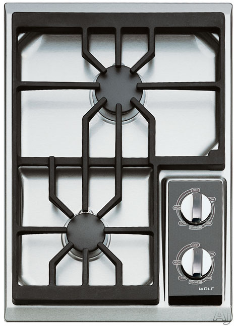 Wolf Ct15gs 15 Quot Gas Cooktop With 2 Dual Stacked Sealed