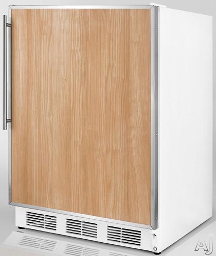 Summit CT66JFR 5.1 cu. ft. Compact Refrigerator with Adjustable Glass Shelves, Door Storage, Dual, U.S. & Canada CT66JFR