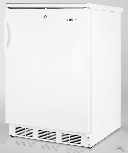 Summit CT66Lx 5.1 cu. ft. Compact Refrigerator with Adjustable Glass Shelves, Door Storage, Manual, U.S. & Canada CT66Lx