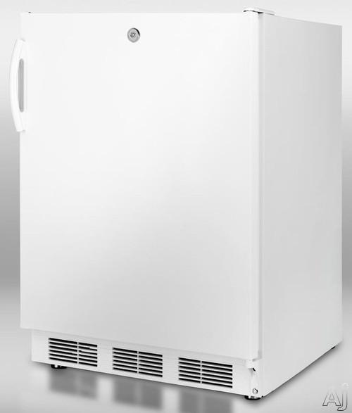 Summit CT66LADA 5.1 cu. ft. Compact Refrigerator with Adjustable Glass Shelves, Door Storage, Manual, U.S. & Canada CT66LADA
