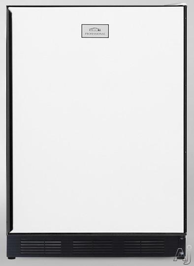"""Summit CT67BI 24"""" Built-in Compact Refrigerator with Adjustable Glass Shelves, Door Storage, Manual, U.S. & Canada CT67BI"""