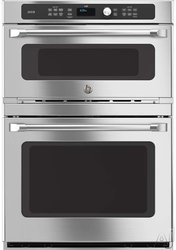 GE Cafe Series CT9800SHSS 30 Inch Built-In Combination Wall Oven with True Convection, Speedcook Technology, Self-Clean, GE Fits! Guarantee, 5.0 cu. ft. Oven Capacity, 1.7 cu. ft. Microwave, Glass Touch Controls, Star-K Certified and Sabbath Mode CT9800S