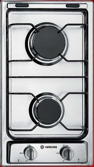 "Verona VECTG212FD 12"" Gas Cooktop with 2 Sealed Burners, Electronic Ignition and Porcelain Grates, U.S. & Canada VECTG212FD"