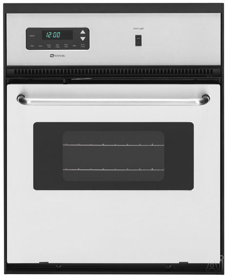 "Maytag CWE4800ACS 24"" Single Electric Wall Oven with 2.6 cu. ft. Self-Cleaning Oven, Precision, U.S. & Canada CWE4800ACS"
